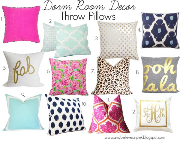 Dorm Decor: Throw Pillows
