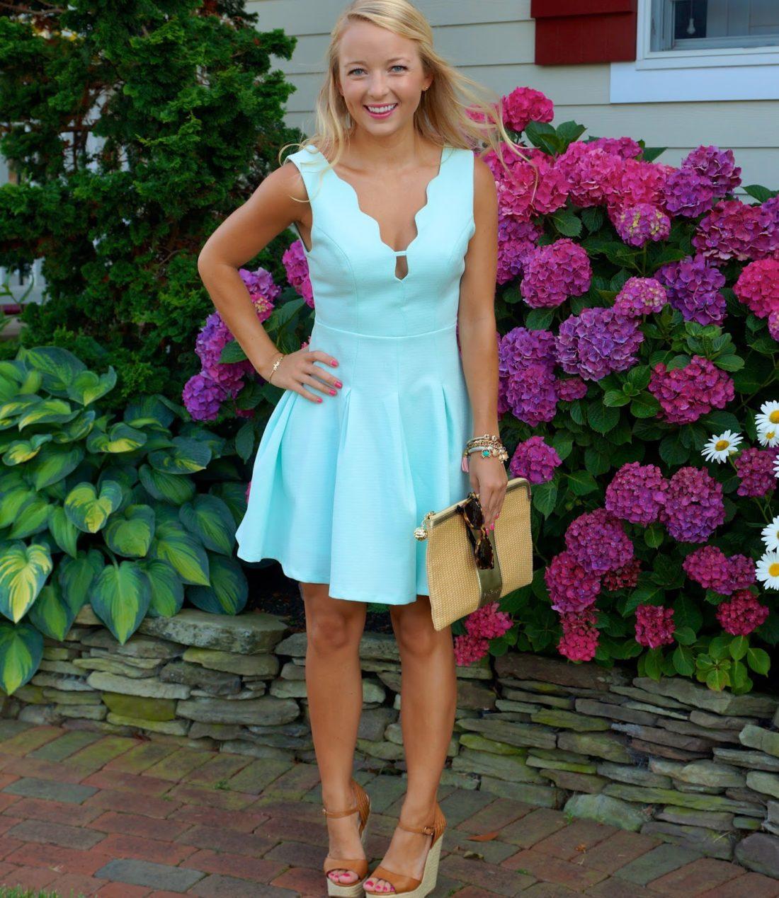 Little Scalloped Dress - I Believe in Pink