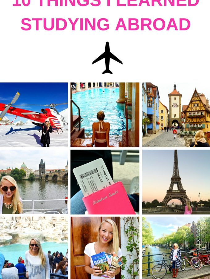10 Things I Learned Studying Abroad