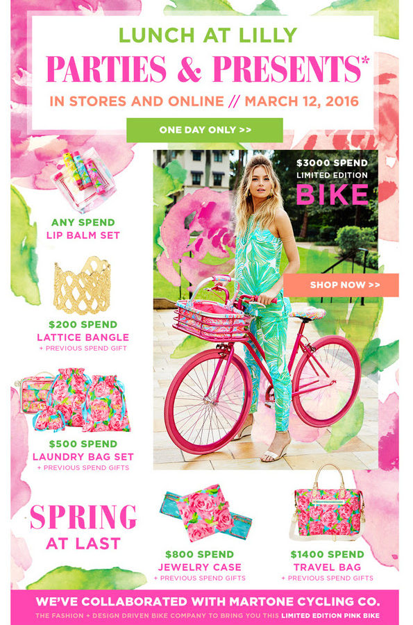 Lunch at Lilly: Gifts with Purchase!