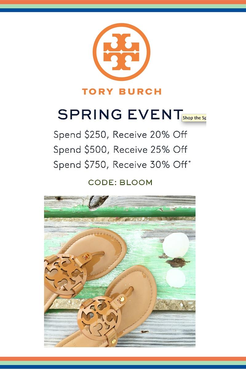 05b72d155599 Tory Burch Spring Sale - I Believe in Pink