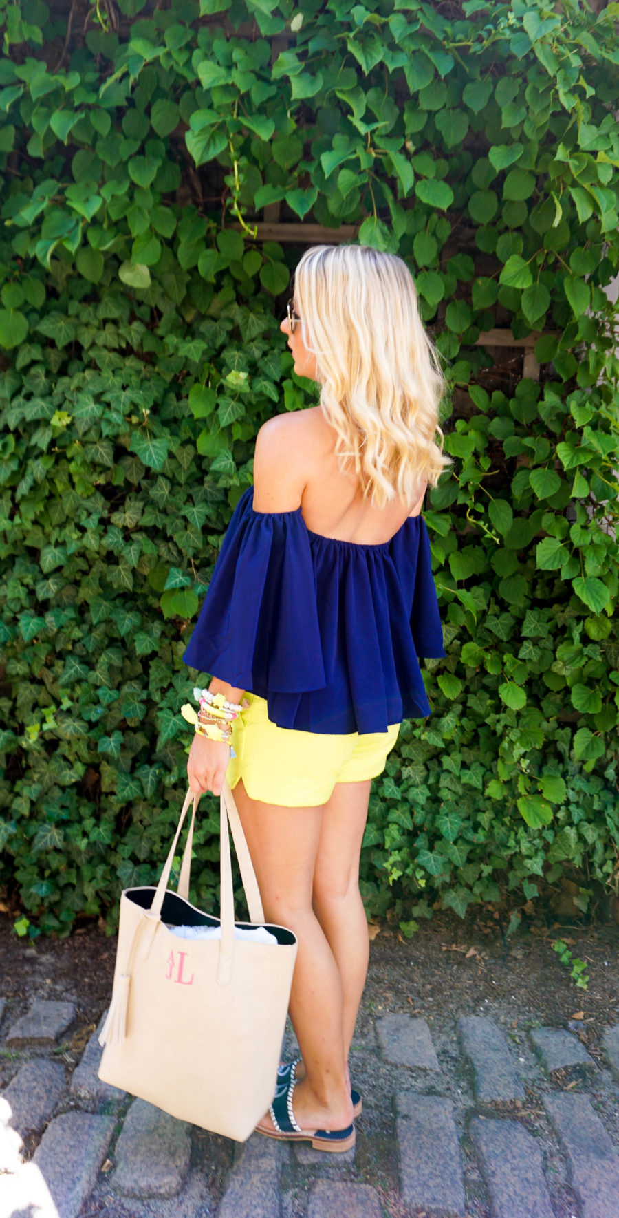 Coffee in Nantucket Off the Shoulder Top and Lilly Pulitzer Shorts-10