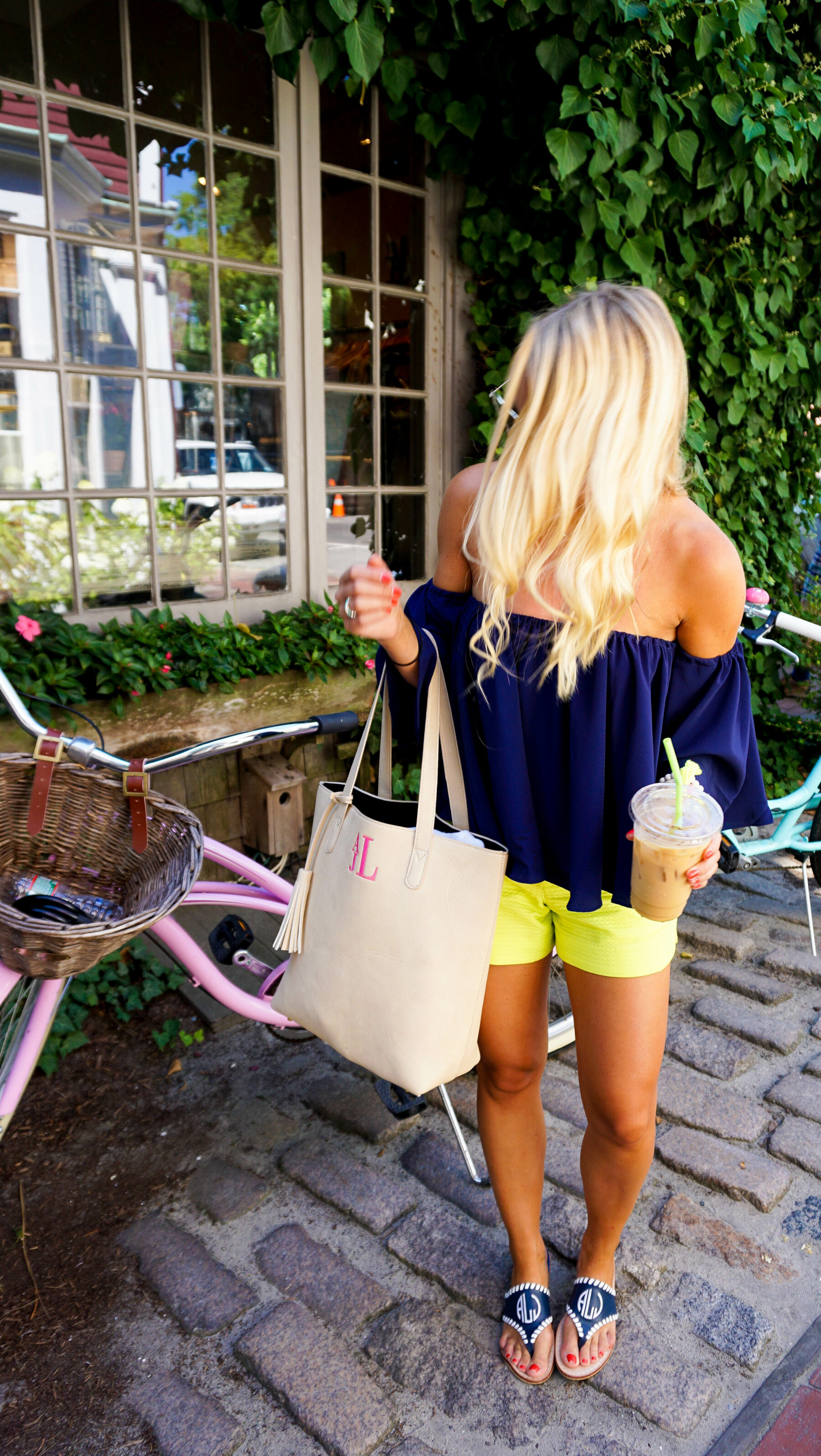 a6aeebe587eb Coffee in Nantucket Off the Shoulder Top and Lilly Pulitzer Shorts-8 ...