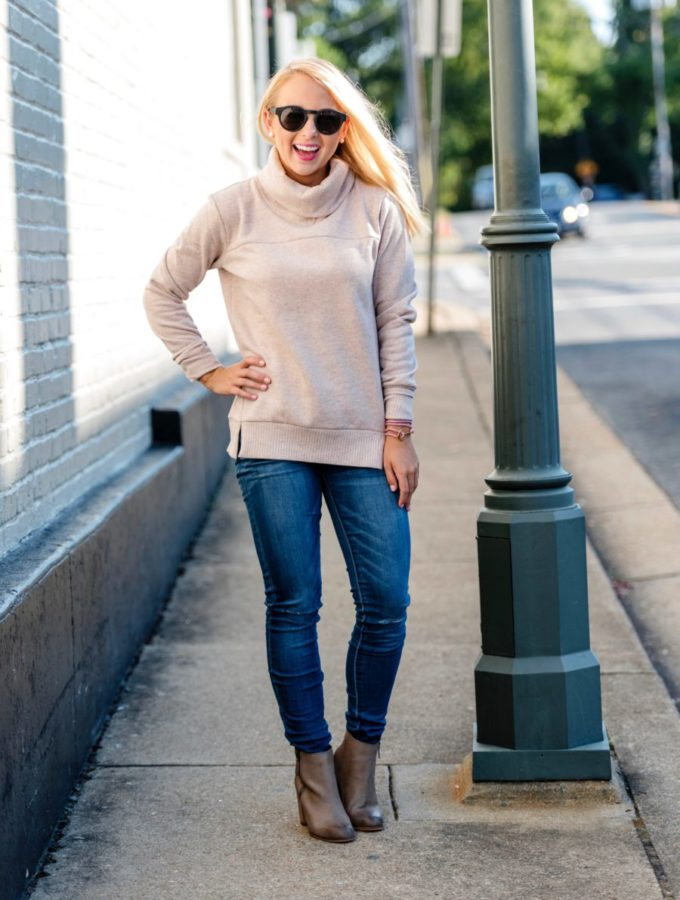 Fleece Turtleneck & Booties