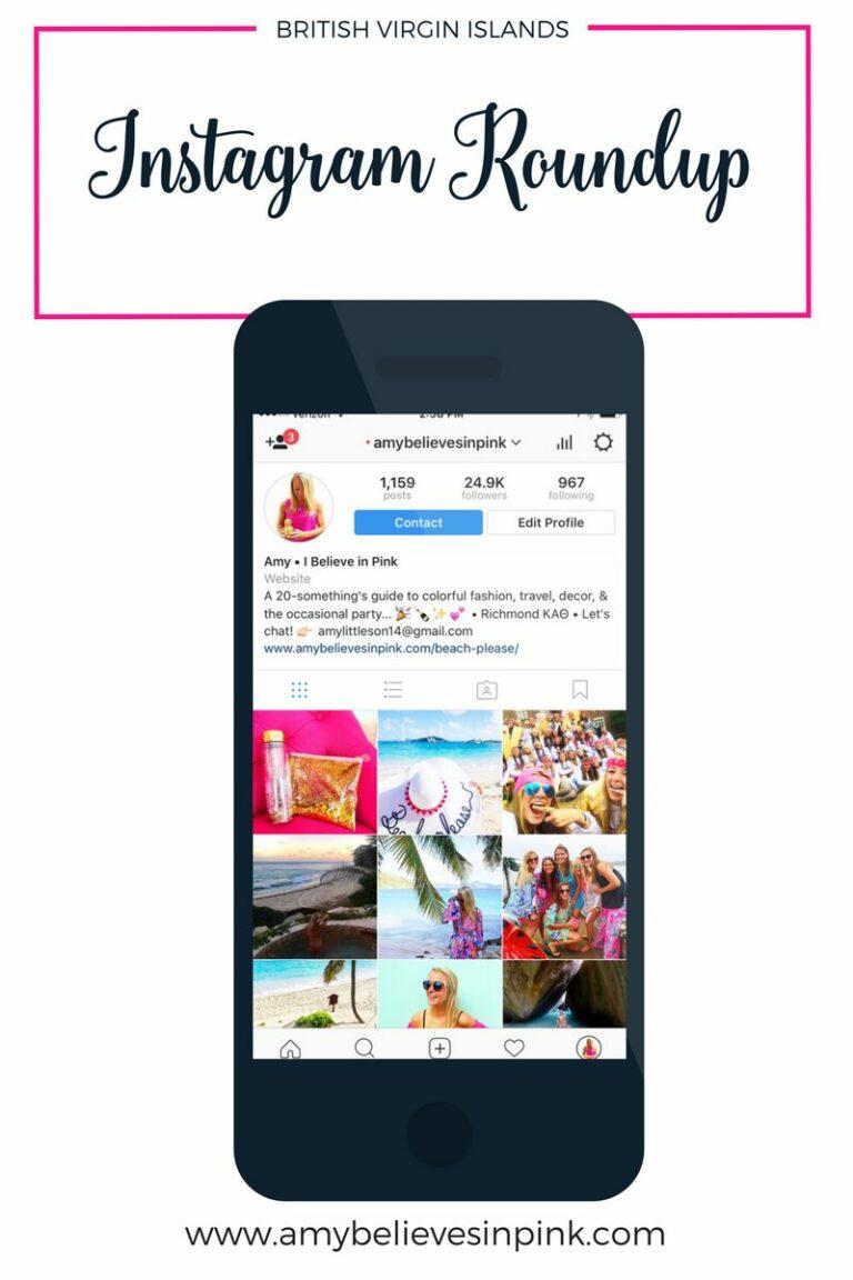 BRITISH VIRGIN ISLANDS Instagram roundup on Amy Believes in Pink
