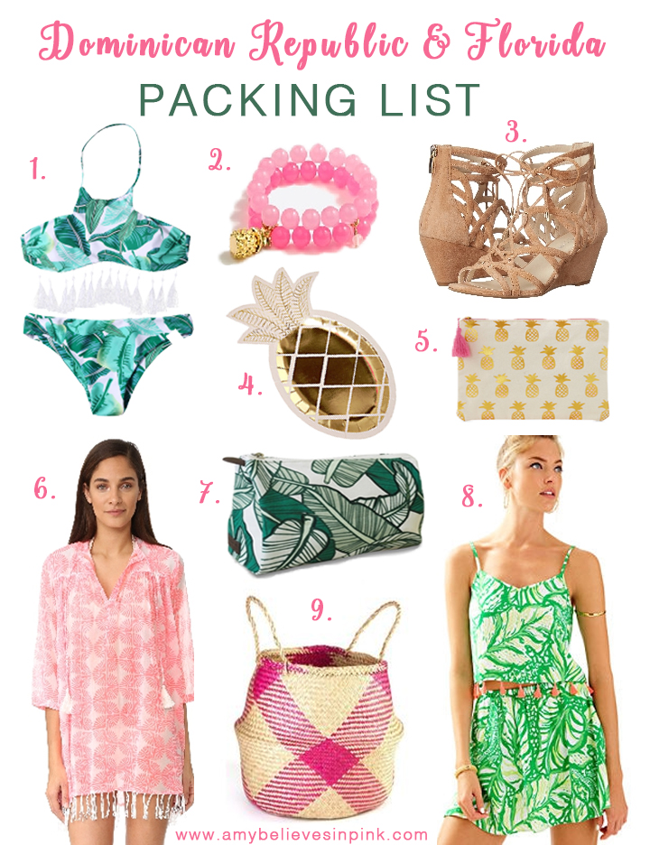 Spring Break Dominican & Florida Packing List