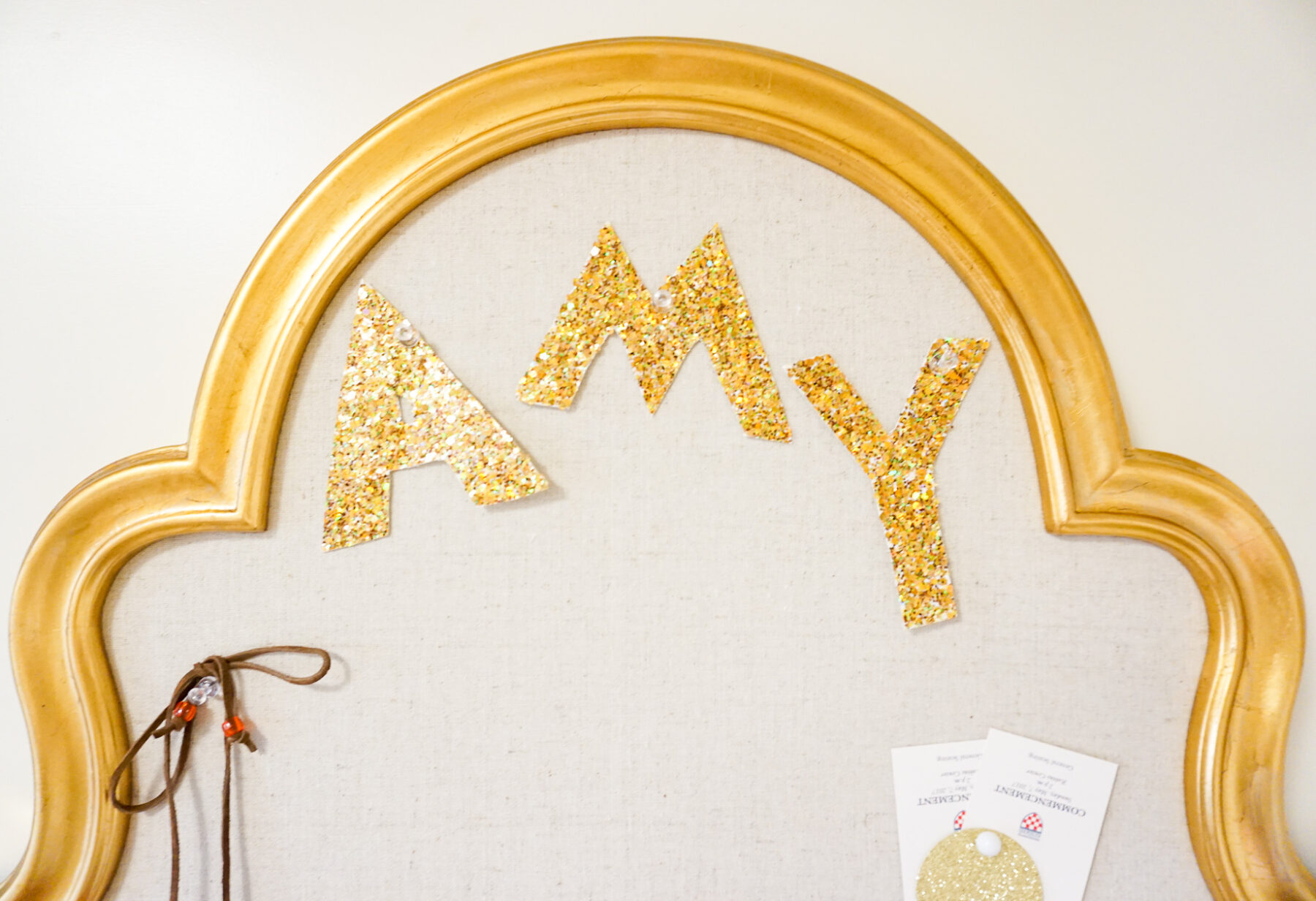Amy Believe in Pink apartment with PB Teen pineapple lamp and bulletin board-2