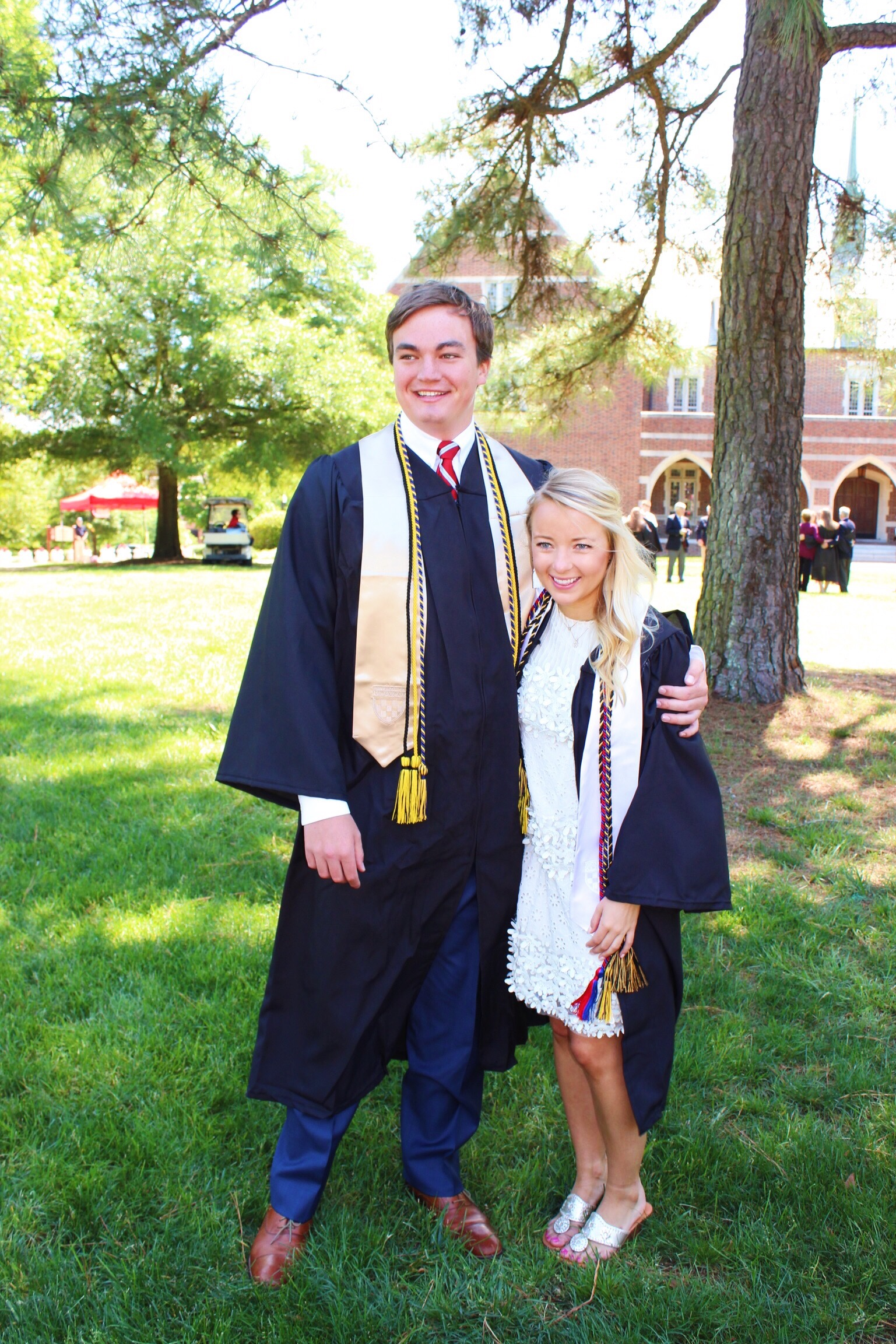 Graduation dress and photos at the University of Richmond