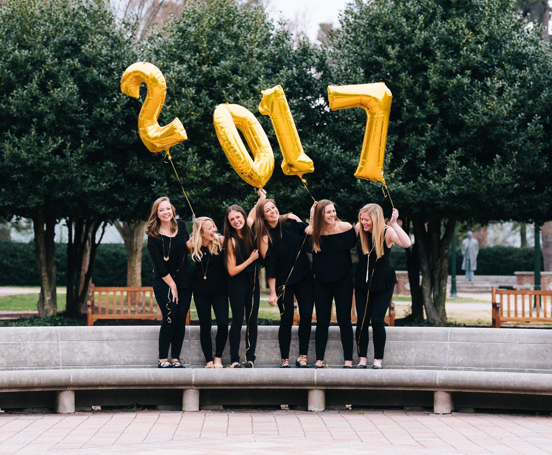 best friends Graduation photo shoot at the University of Richmond_