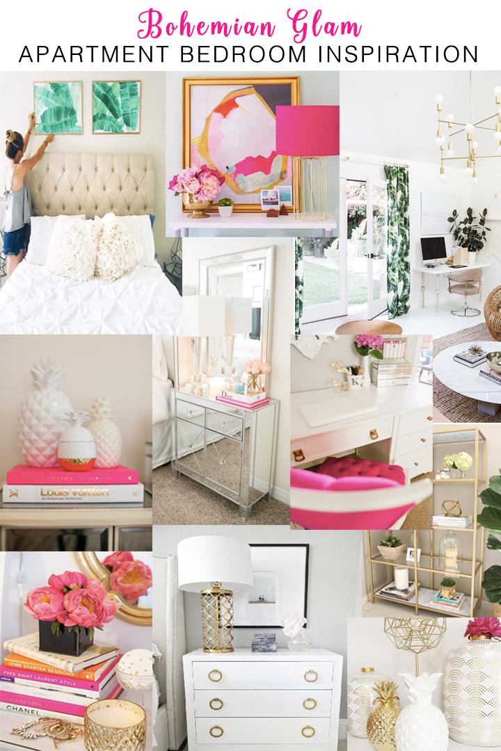 Bohemian Glam Philadelphia Apartment Bedroom Inspo