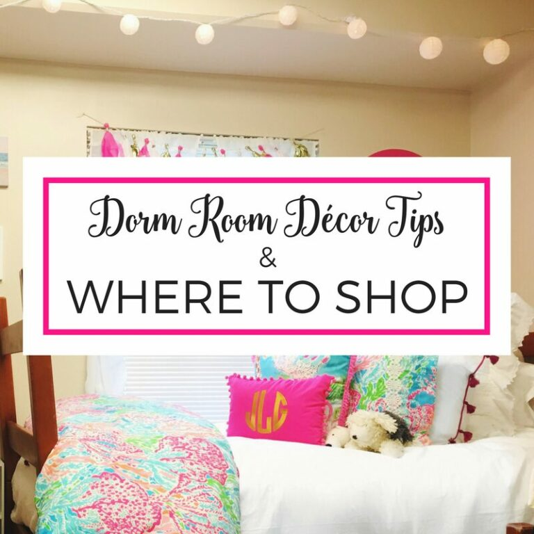 Dorm decor tips and dorm room storage