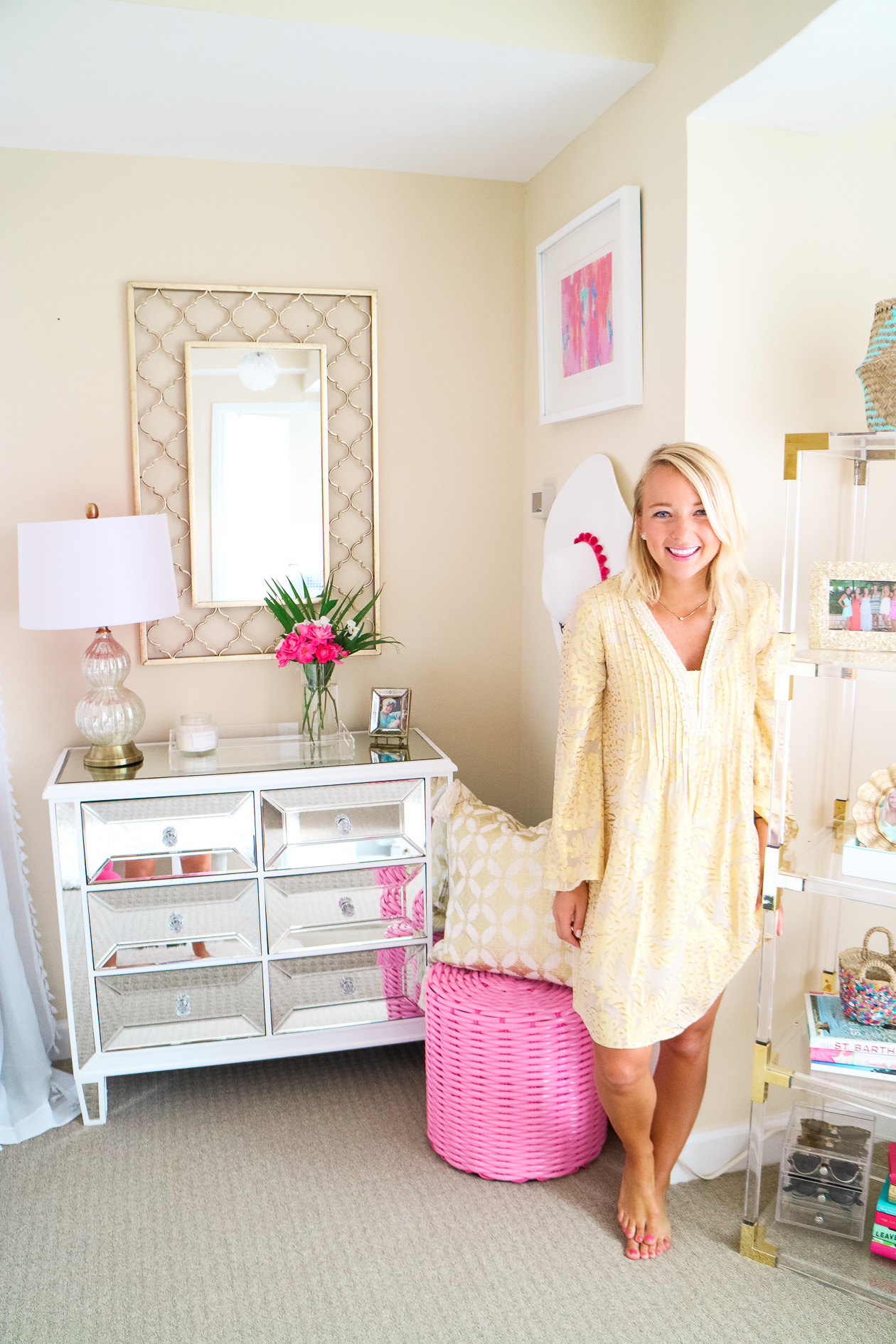 white pink and gold bohemian glam apartment in philadelphia pa 12 i believe in pink. Black Bedroom Furniture Sets. Home Design Ideas