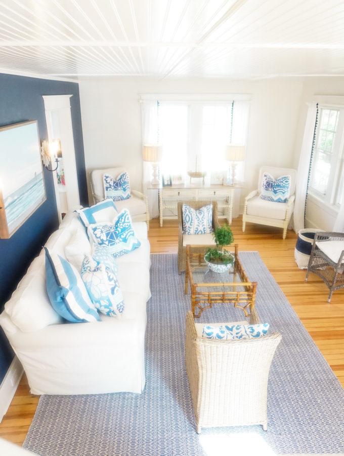 Shore House Living Room Reveal