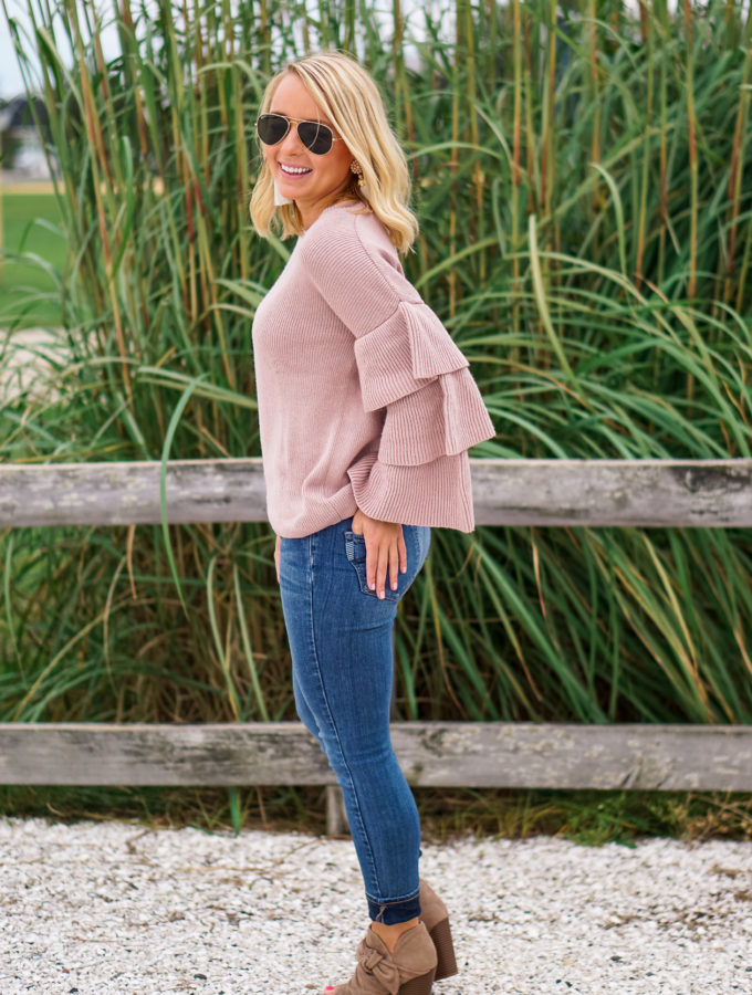 Blush Ruffle Sweater