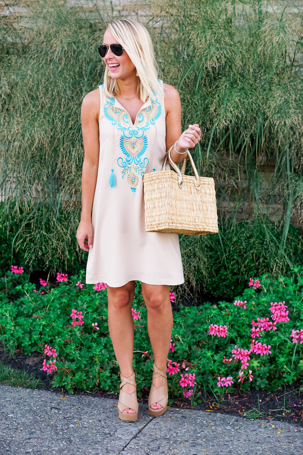 Embroidered Lilly Pulitzer Shift dress at the Reeds in Stone Harbor