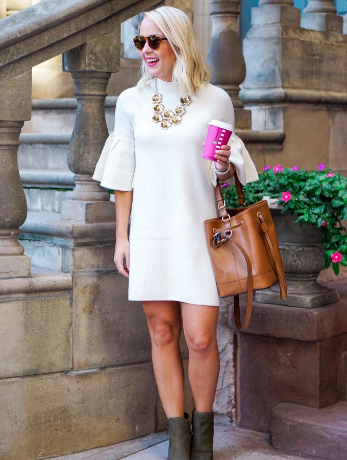 Bell Sleeve Sweater Dress
