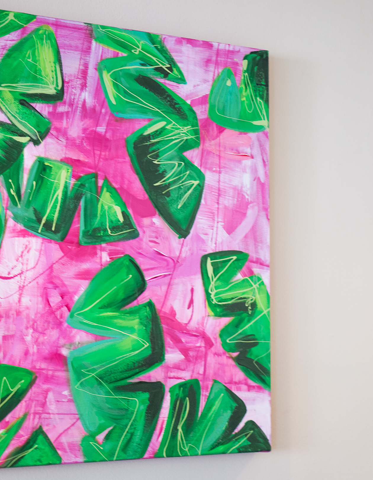 Banana Leaves in Our Living Room I Believe in Pink