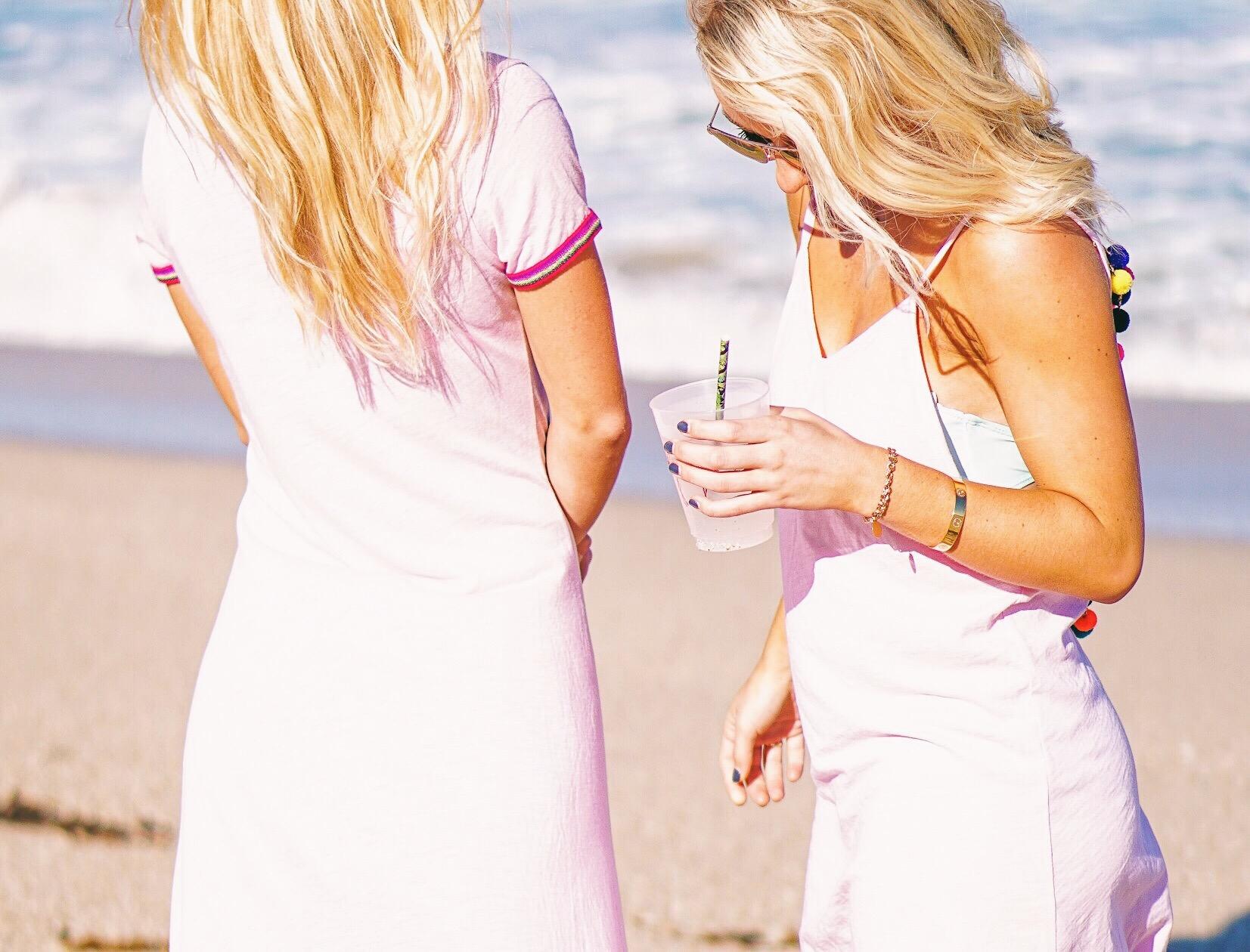 Pitusa pom pom dress and flamingo cups