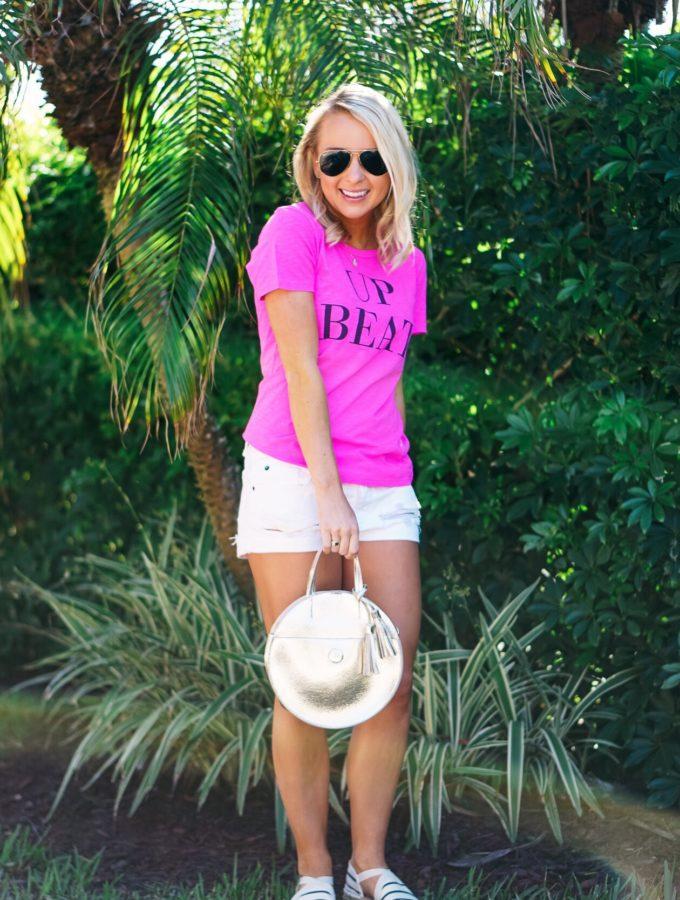 Pink Upbeat T Shirt