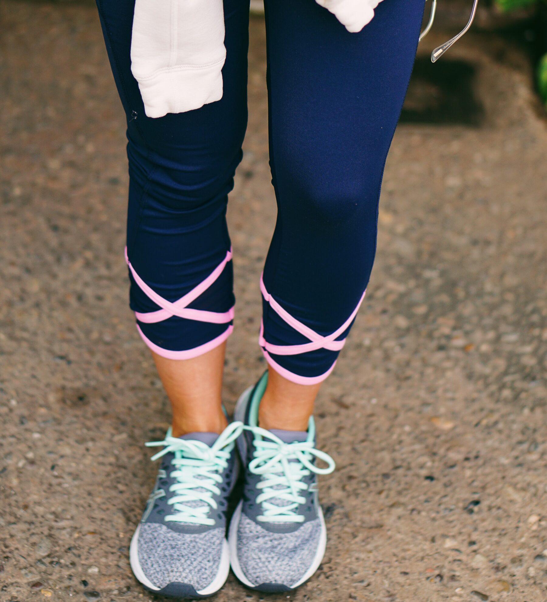 Lauren James navy and pink activewear