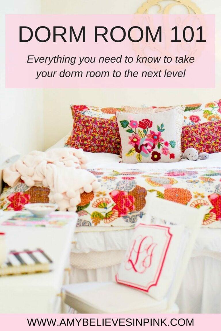 Dorm room bedding, décor, & tips