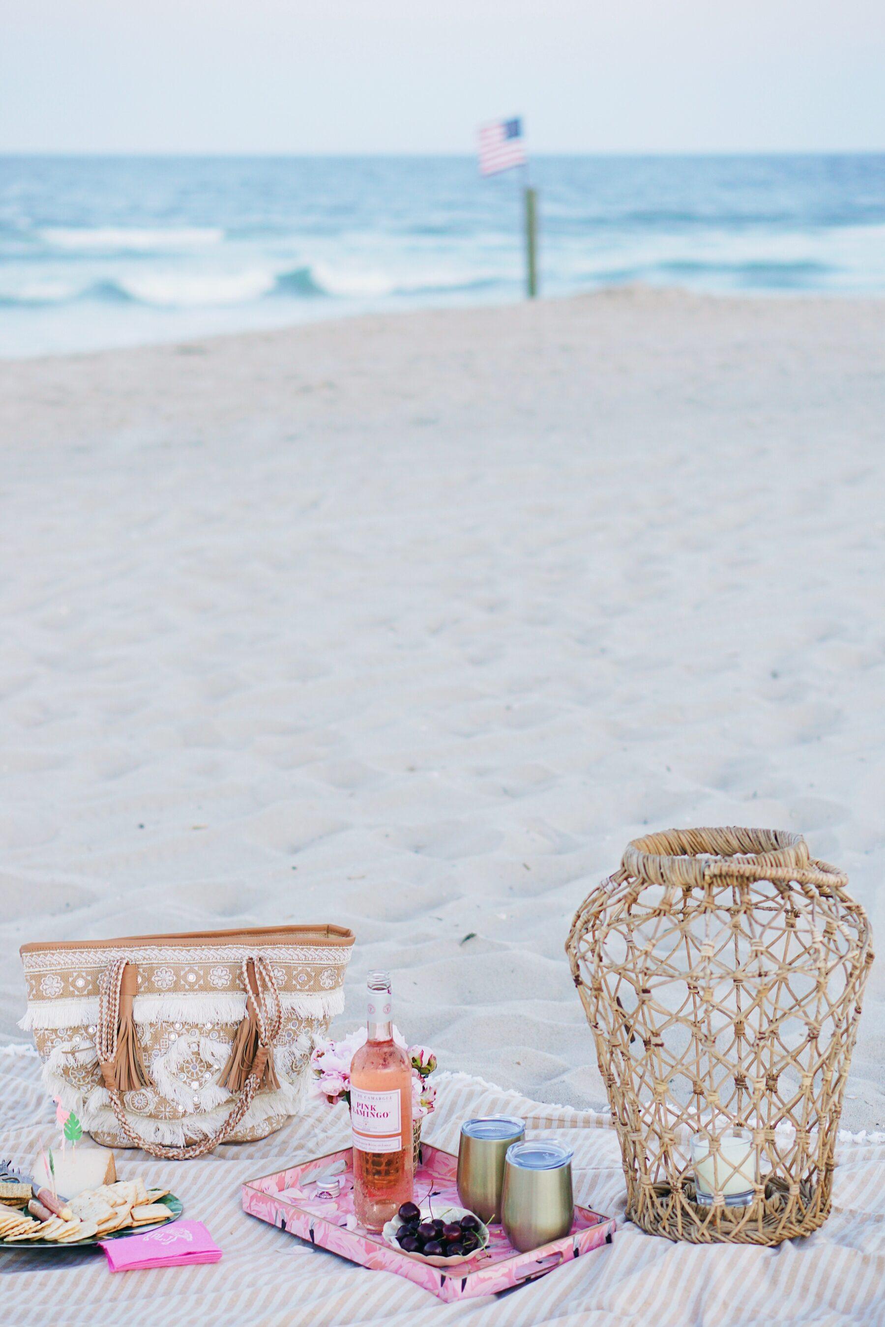 Sunset rosé beach picnic with The Grove Winter Park