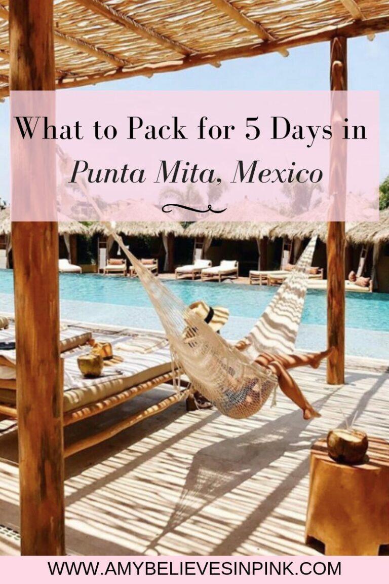Punta Mita, Mexico Packing List