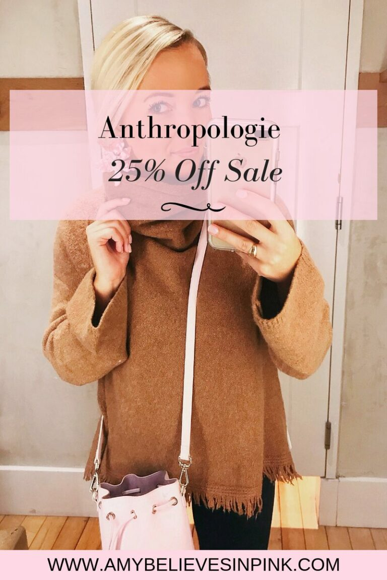 Anthropologie 25% off sale