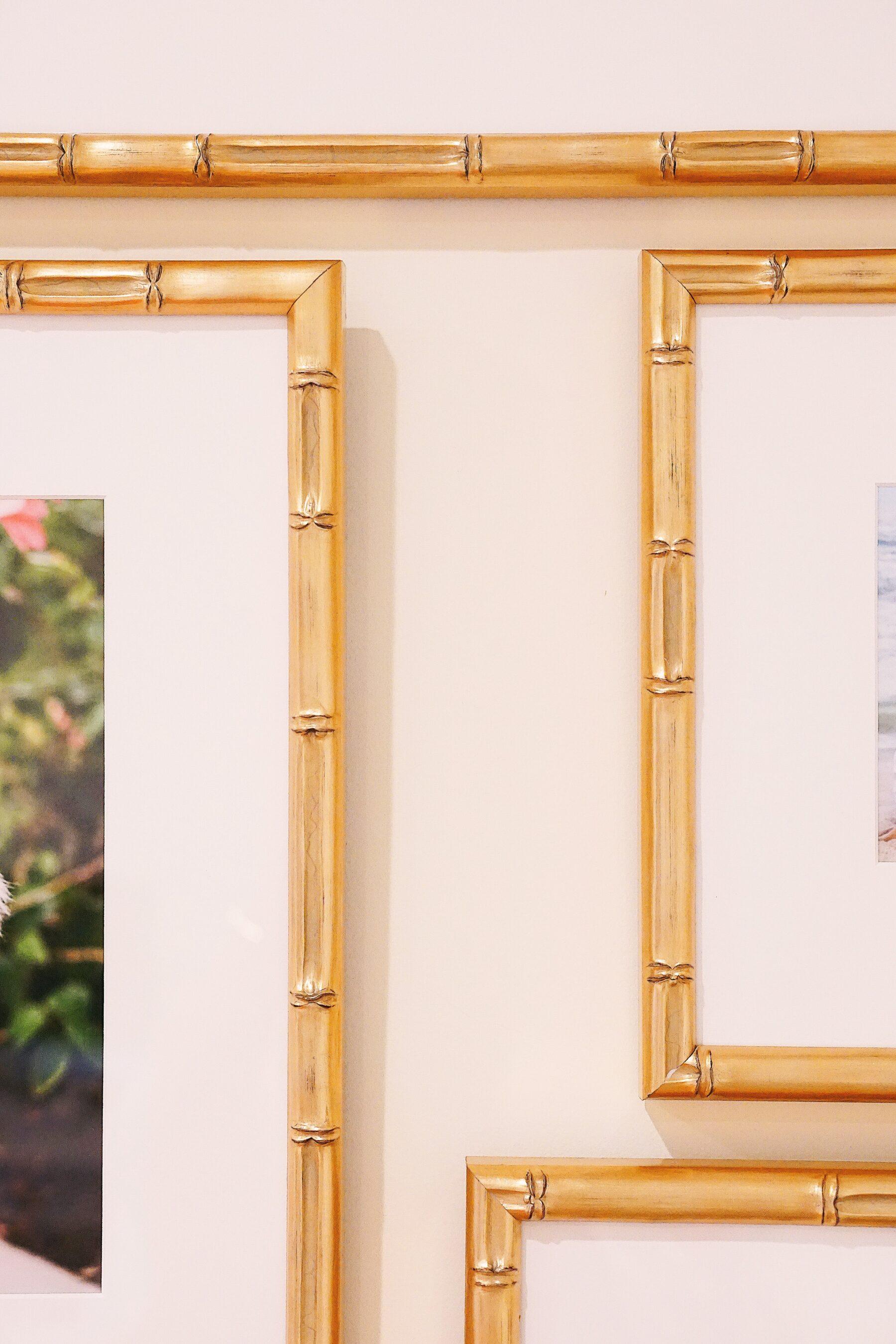 Framebridge Lucia gold bamboo frame