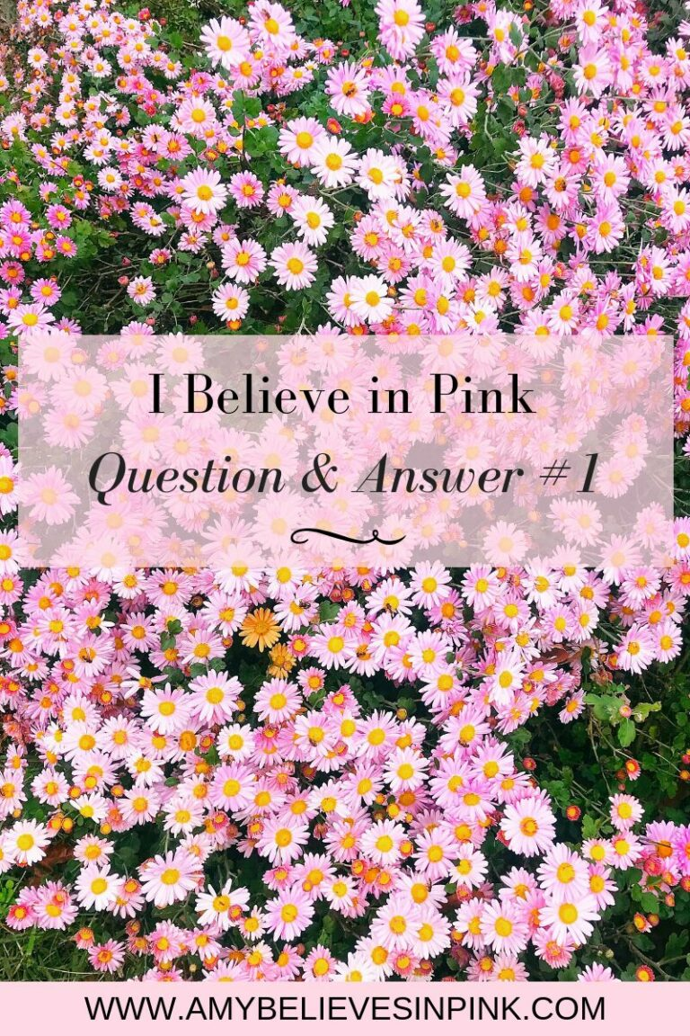 I Believe in Pink question and answer