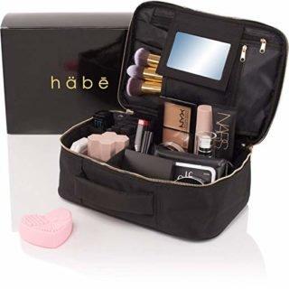 Black travel makeup case