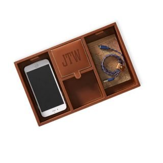 Mark and Graham leather catchall