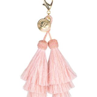 Pink tassel key chain