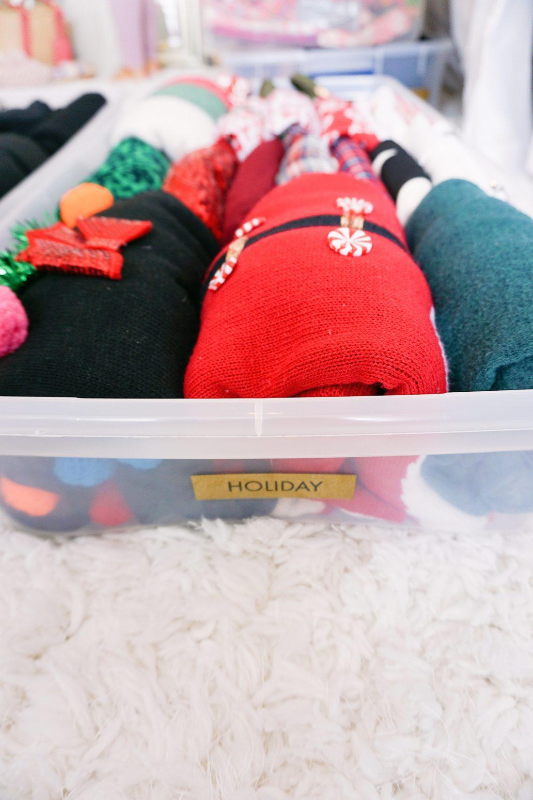 House of Turk closet organization under bed holiday storage