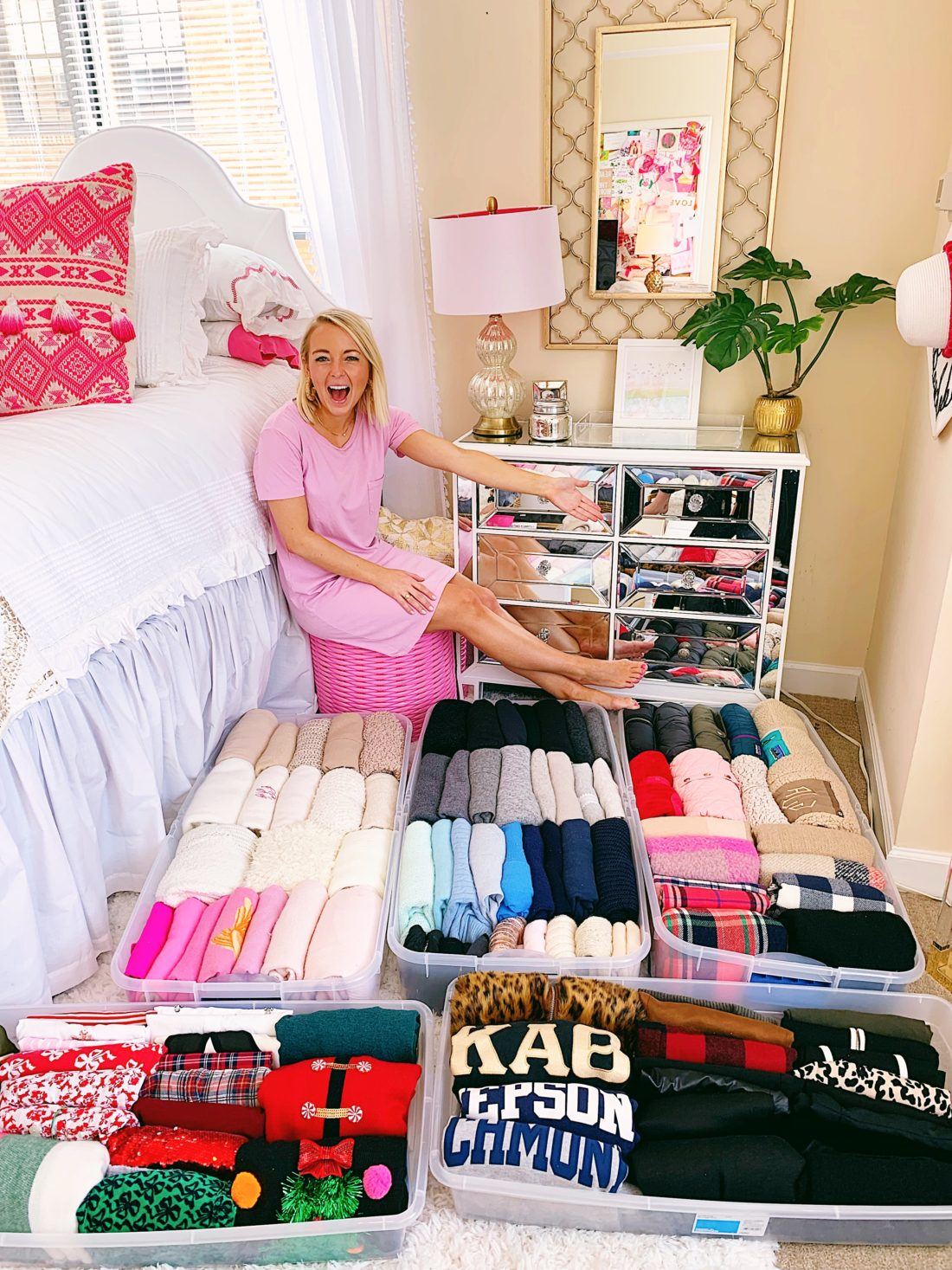 closet organization summer wardrobe