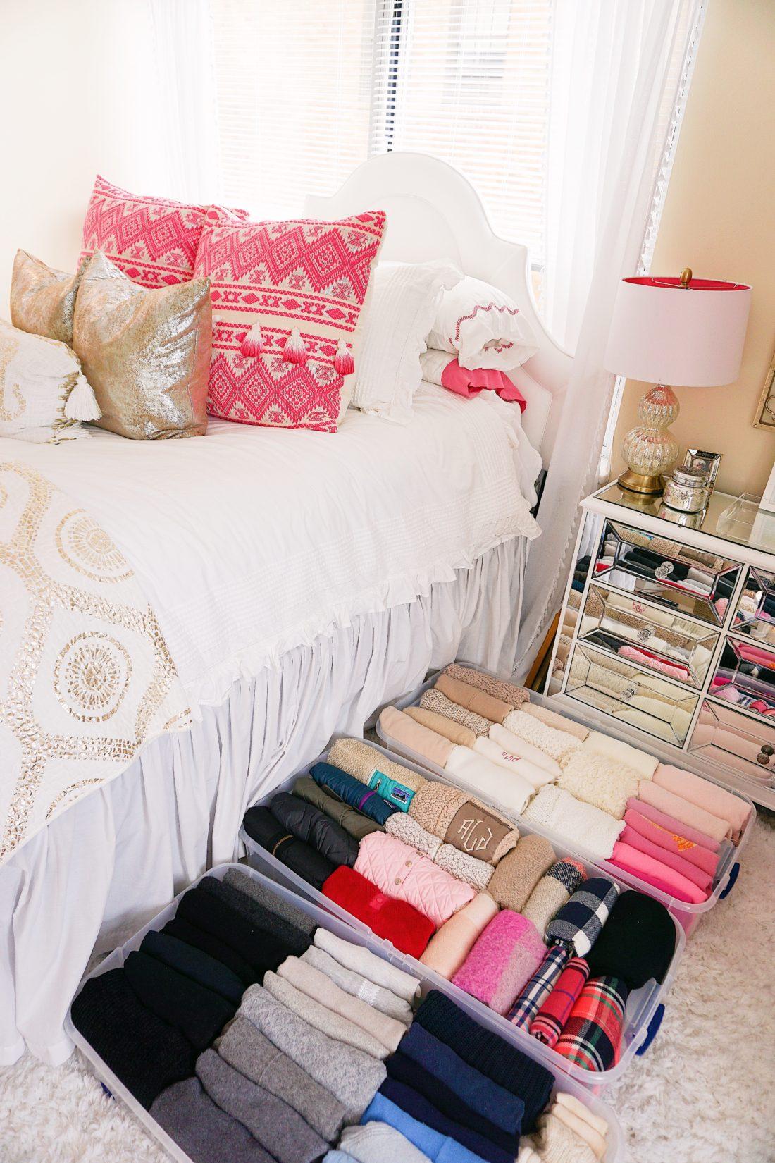 House of Turk closet organization under bed storage