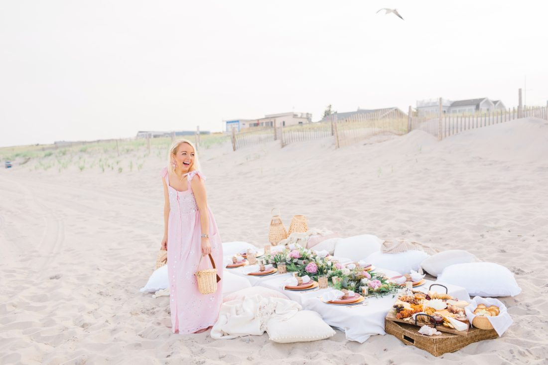 Beach picnic birthday dinner on Long Beach Island, NJ