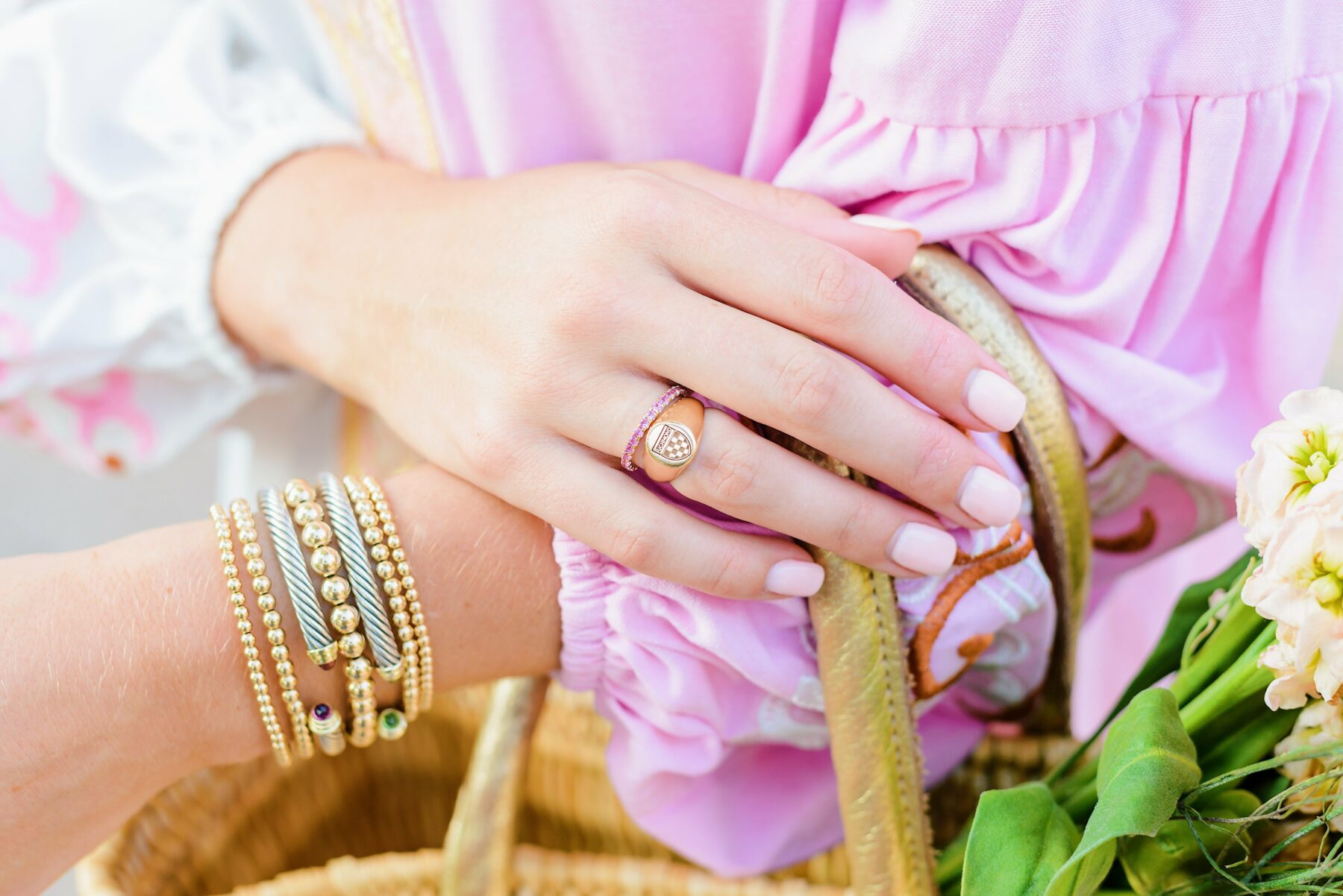 custom pink sapphire ring