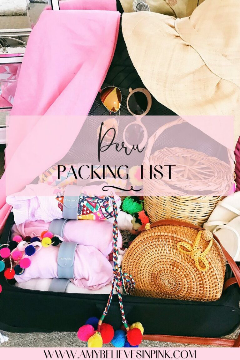 Peru packing list, what to pack for Peru