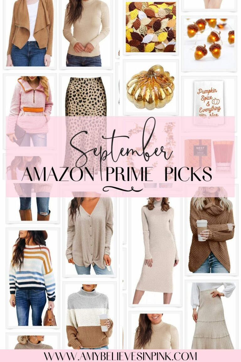 September Amazon Prime fall clothing and decor