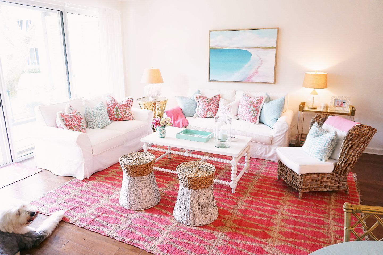 Vero Beach Townhouse living room