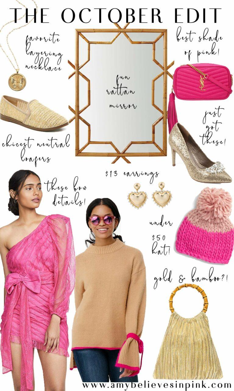 October Edit pink and gold favorites
