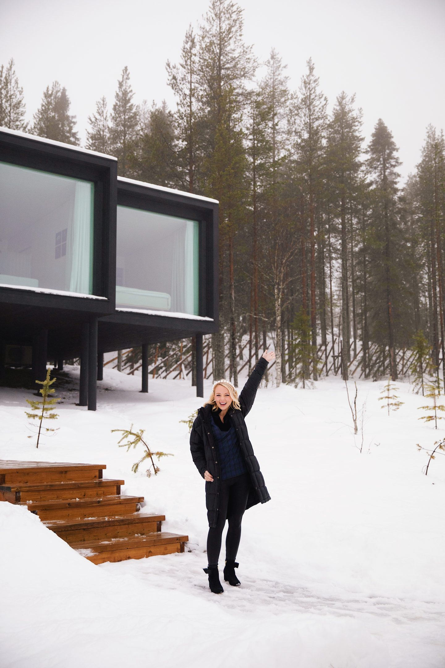 Travel guide and travel diary to Lapland, Finland and Rovaniemi, Finland with the Arctic Treehouse Hotel Review