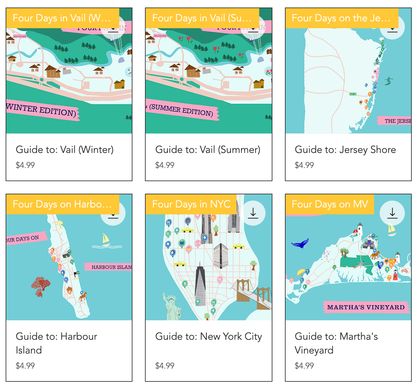 Four Day Weekend destination guides and custom itineraries