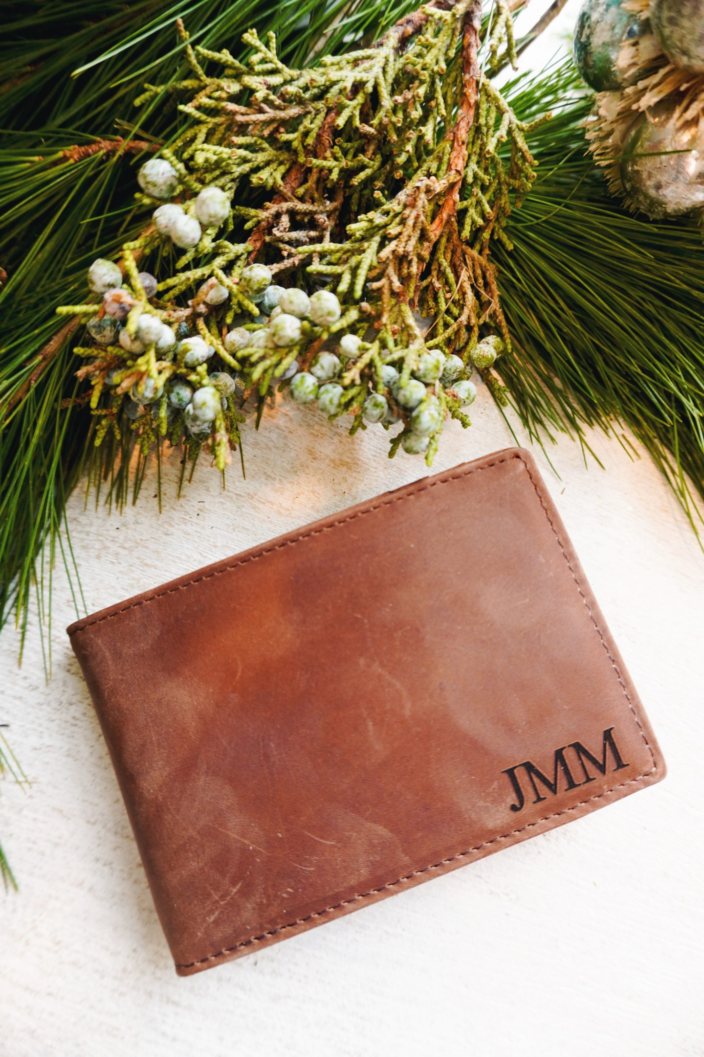 Personalized watch and monogrammed wallet gifts for men