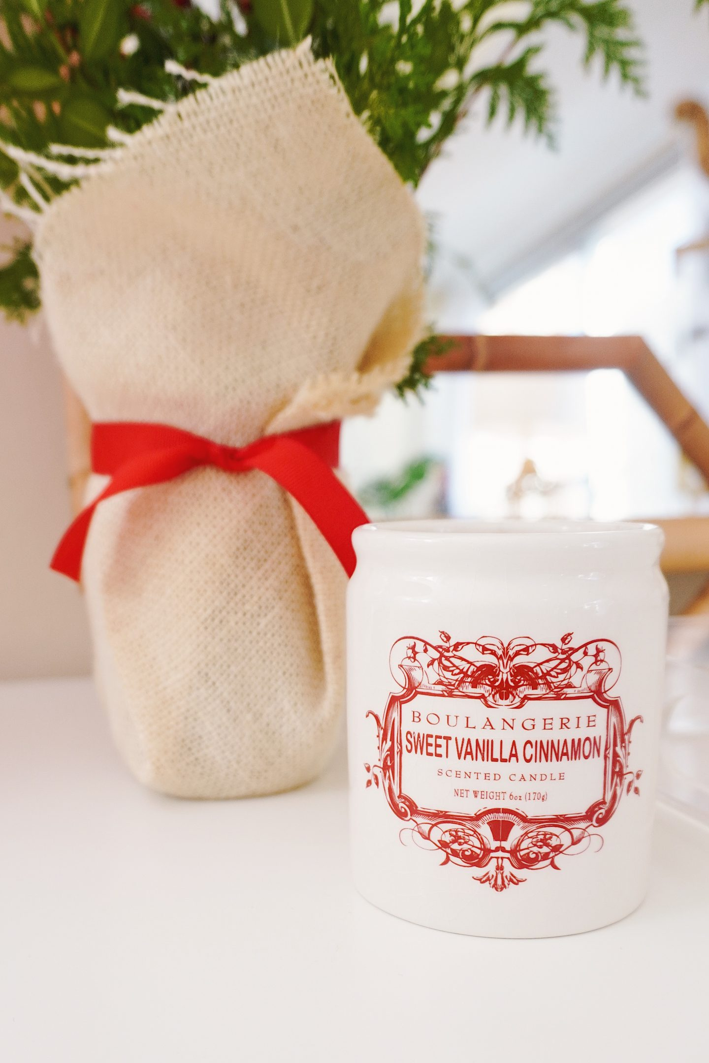 Sweet vanilla cinnamon candle from Anthropologie