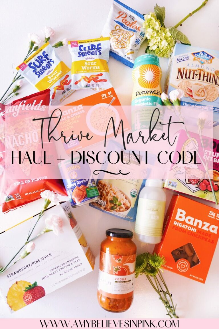 Thrive Market discount code and organic grocery haul