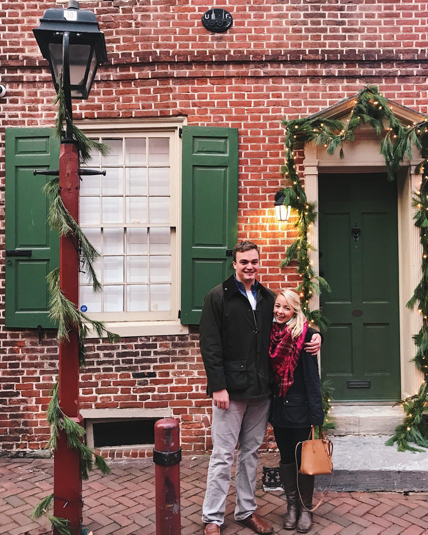 Elfreth's Alley in Philadelphia, PA