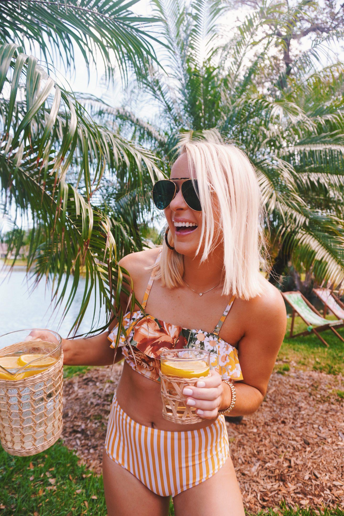 Albion Fit yellow swimsuit in Vero Beach, FL