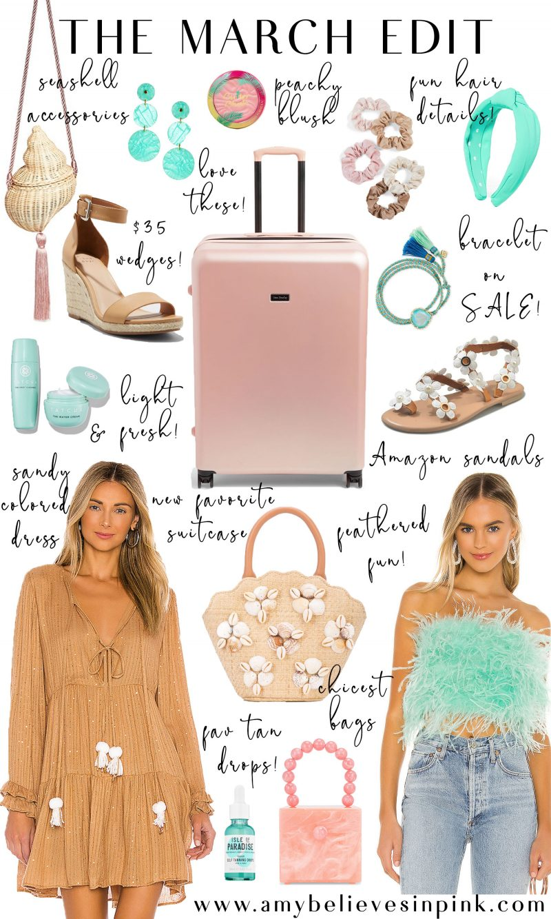 March Edit and Mexico spring break packing list
